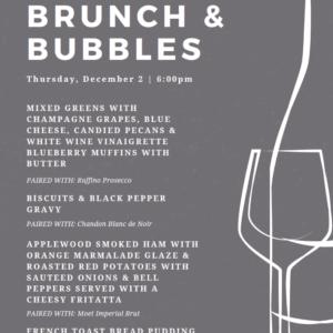brunch and bubbles